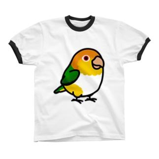 Chubby Bird シロハラインコ Ringer T-shirts