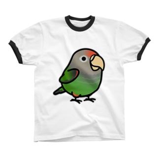 Chubby Bird ハネナガインコ Ringer T-shirts