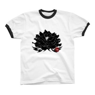 和花-墨 Ringer T-shirts