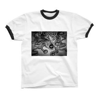 苛苛 Ringer T-shirts