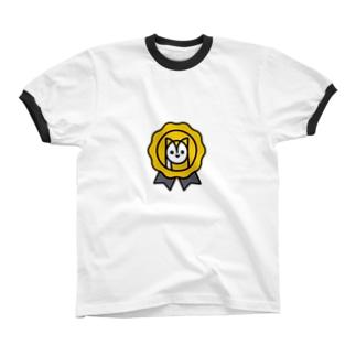 YUKICHI ROSETTE Ringer T-shirts