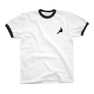 Lovehim/BW リンガーTシャツ