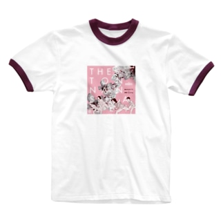 桃の花の下で Ringer T-shirts