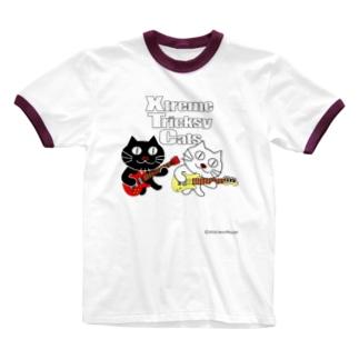 ネコ兄弟 tXTC_18 Ringer T-shirts