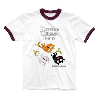 ネコ兄弟 tXTC_08 Ringer T-shirts
