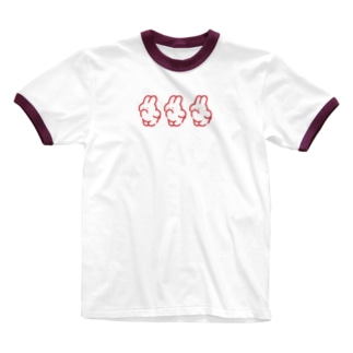 3(RED) Ringer T-shirts