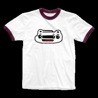 平行のくまめ ワープする Ringer T-shirts