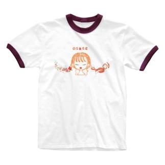 おさげな女の子 Ringer T-shirts