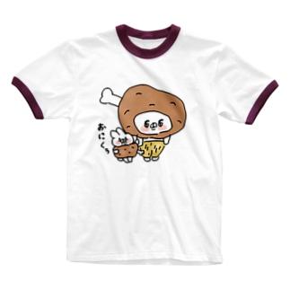 お肉ぅ Ringer T-shirts