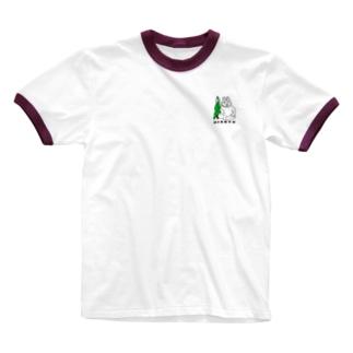 例のウサギvsラステコ Ringer T-shirts