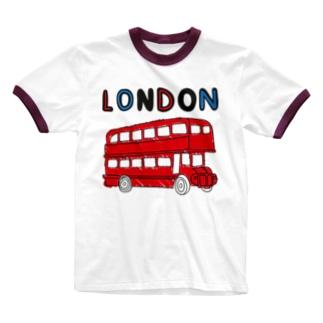 ロンドンバス Ringer T-shirts