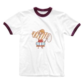 キャンくのなつやすみ! Ringer T-shirts