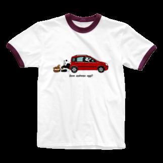 Moooooo!のイタリアの車が好き2★リブ Ringer T-shirts