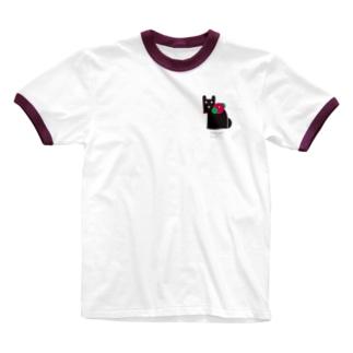 グラフィックアニマルズのabehina model Ringer T-shirts