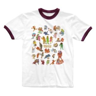タヌタヌ探偵01 Ringer T-shirts