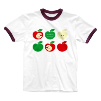 りんごちゃん(No.3)  Ringer T-shirts