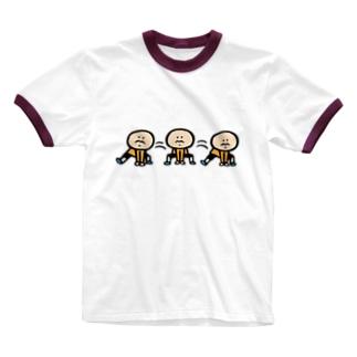反復横跳び Ringer T-shirts