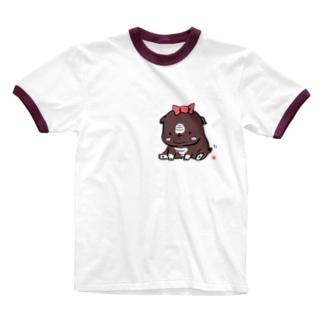 我が家のブルドッグ Ringer T-shirts