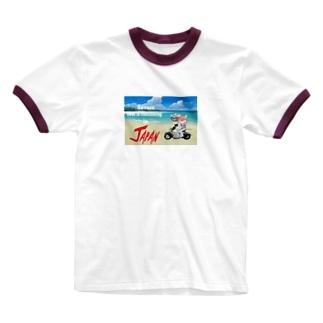 かわいいにゃんことワンコの絵のお店のにゃんこライダース Ringer T-shirts