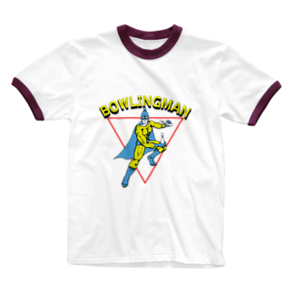 relax_timeのボーリングマン アメコミヒーロー風 Ringer T-shirts