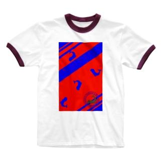 シャチホコじゃないよ、ゾウアザラシだよ 2 赤/青 Ringer T-shirts