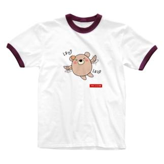 くまのココ(はぴはぴ) Ringer T-shirts
