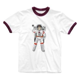 かわいい宇宙飛行士のひいちゃん Ringer T-shirts