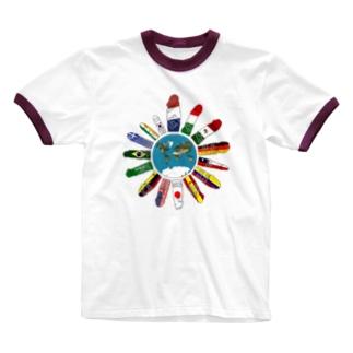 ナニですがナニか? Ringer T-shirts