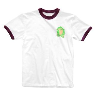 カエル Ringer T-shirts
