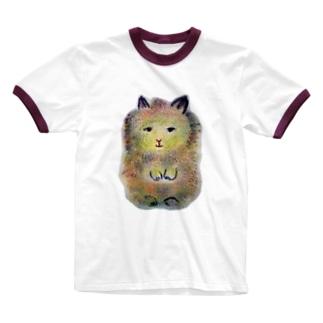 小さなうさぎのむぎちゃん Ringer T-shirts