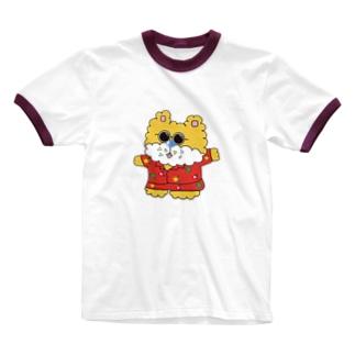 ハワイアンくまちゃん Ringer T-shirts