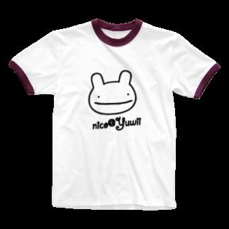Yuwiiの店のnico Ringer T-shirts
