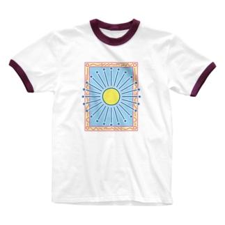 がくのなかの世界 はれ Ringer T-shirts