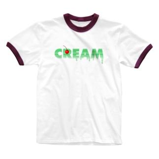 CREAM SODA Ringer T-shirts