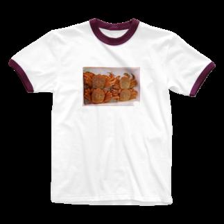 石川のかに Ringer T-shirts