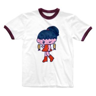 エビフライが好きな人 Ringer T-shirts