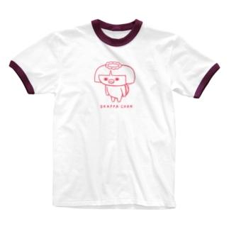 オカッパちゃん Ringer T-shirts