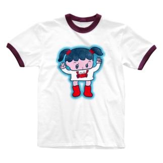 かにパワー Ringer T-shirts