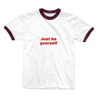 Just be yourself 2 Ringer T-shirts