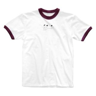 Running dog Ringer T-shirts