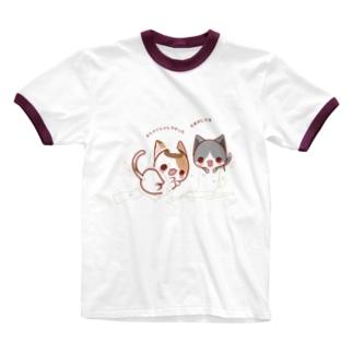 いたずらっこ Ringer T-shirts