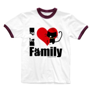 I LOVE Family Ringer T-shirts