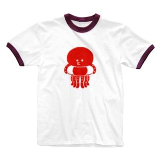 マリンシリーズ・タコ Ringer T-shirts