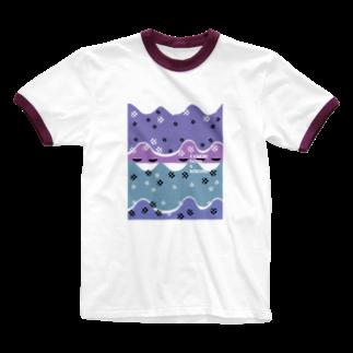 nachau7のkika-11 Ringer T-shirts