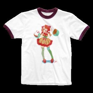 Lichtmuhleのキャンディポップもる子.png Ringer T-shirts