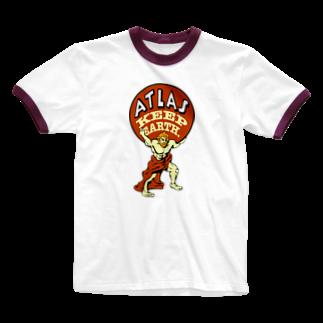 提供 tshopのアトラス Ringer T-shirts