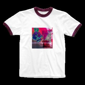 asa-chanのメラメラ Ringer T-shirts