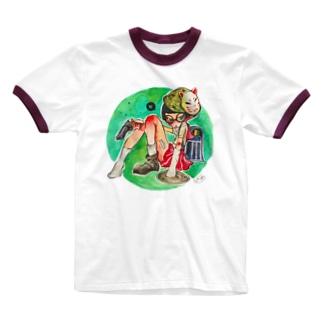 武装 Ringer T-shirts