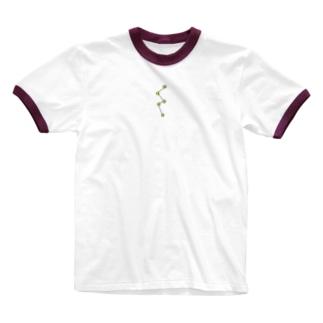 正座もどき Ringer T-shirts