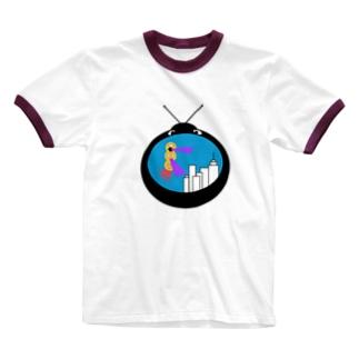 宇宙人襲撃T Ringer T-shirts